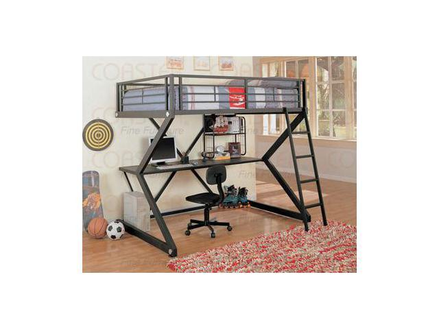 Anchorage Matte Black Loft Bed by Coaster Furniture