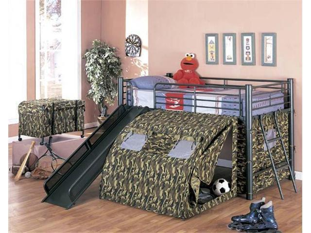 GI Bunk Bed with Slide and Tent by Coaster by Coaster Furniture