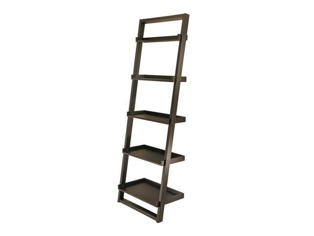 Bailey Leaning Shelf 5-Tier  By Winsome Wood