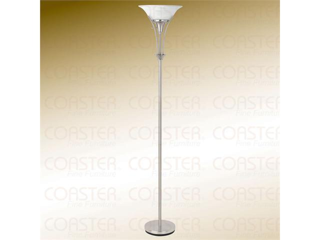 FLOOR LAMP,BRUSHED STEEL 71