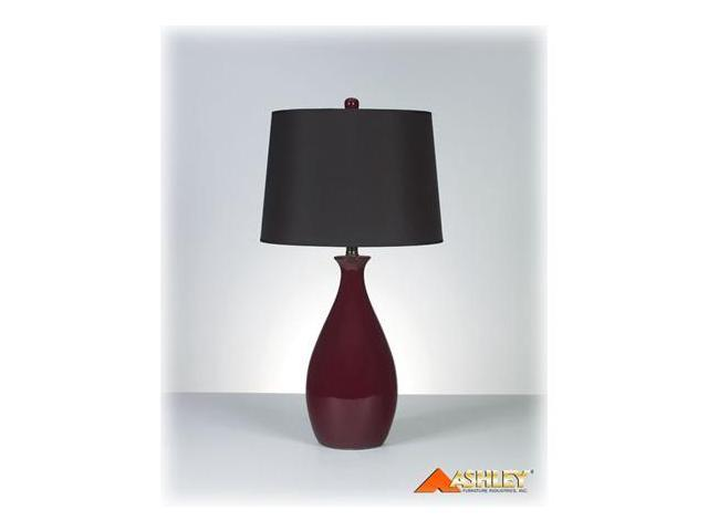 JEMMA DEEP RED TABLE LAMP(2/CTN)  by Ashley Furniture