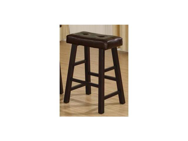 Brown Faux Leather Bar Stools F1240 (set of 2) by Poundex