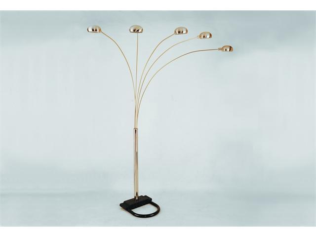 Pewter Peacock Floor Lamp 82''H by Crown Mark