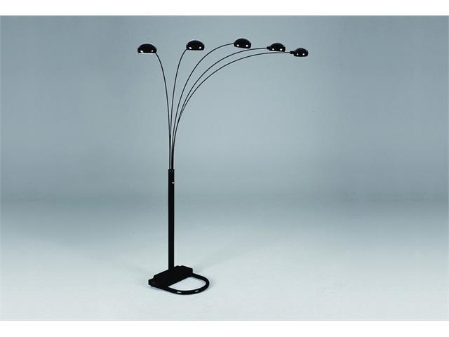 Black Peacock Floor Lamp 82''H by Crown Mark