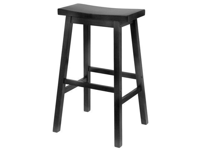 "Saddle Seat 29"" Black Stool, Single, Rta By Winsome Wood"