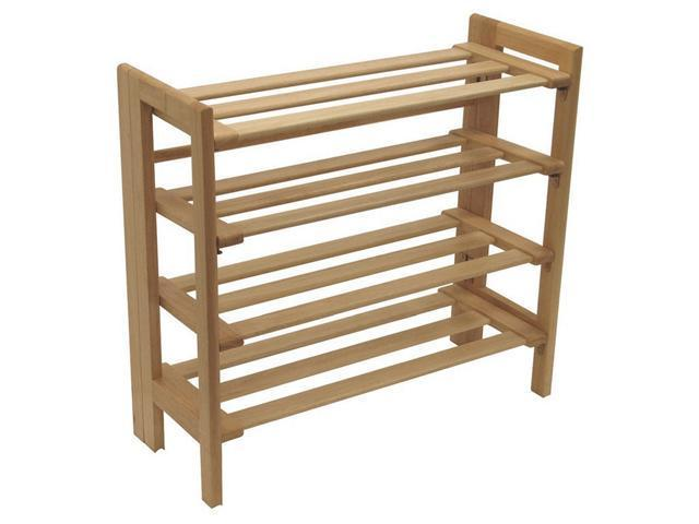 Winsome Shoe Rack, 4--Tier in Natural - 81228