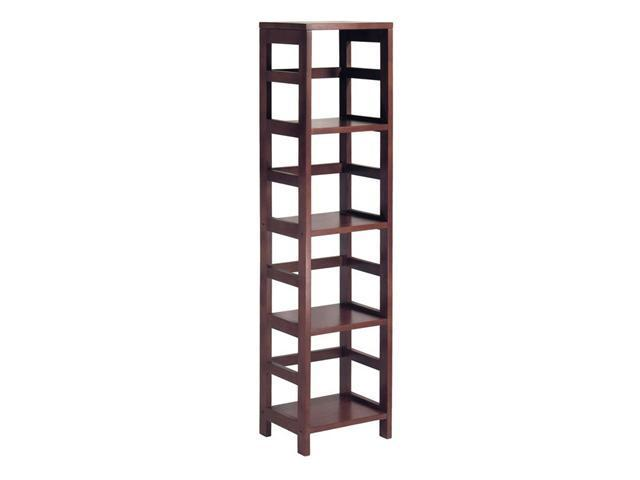 Leo Shelf With 4-Tier By Winsome Wood