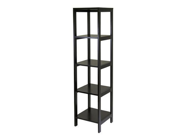Winsome Hailey Tower Shelf, 5-Tier, Modular in Dark Espresso - 92615
