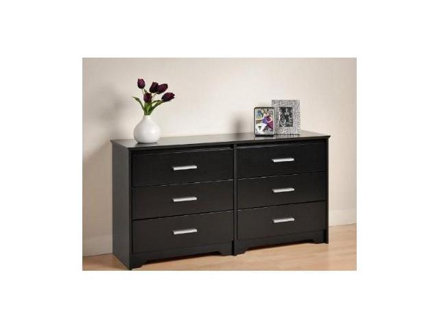 Coal Harbor 6 Drawer Dresser (Black) By Prepac