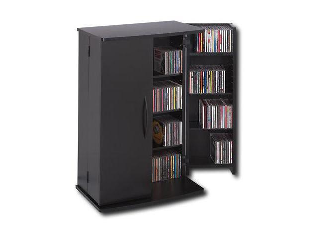 Prepac Black Locking Media Storage Cabinet - BVS-0136