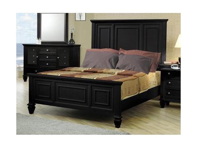 Sandy Beach Black King Bed By Coaster Furniture