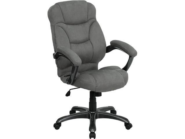 Flash Furniture High Back Gray Microfiber Upholstered Contemporary Office Chair [GO-725-GY-GG]