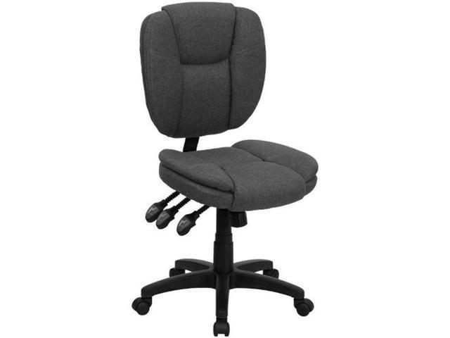 Flash Furniture Mid-Back Gray Fabric Multi-Functional Ergonomic Task Chair [GO-930F-GY-GG]