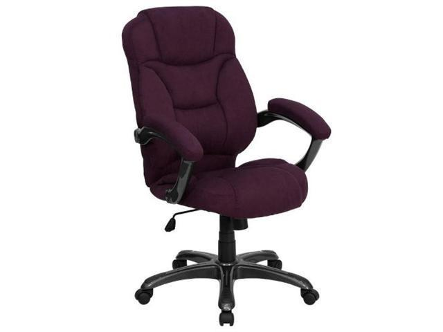 Flash Furniture High Back Grape Microfiber Upholstered Contemporary Office Chair [GO-725-GRPE-GG]