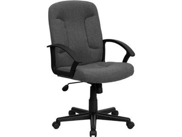 Flash Furniture Mid-Back Gray Fabric Task and Computer Chair with Nylon Arms [GO-ST-6-GY-GG]