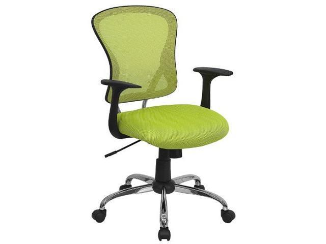 Flash Furniture Mid-Back Green Mesh Office Chair with Chrome Finished Base [H-8369F-GN-GG]