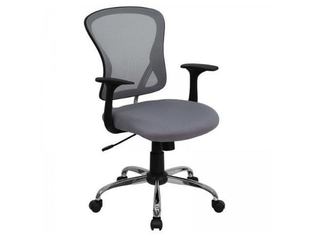 Flash Furniture Mid-Back Gray Mesh Office Chair with Chrome Finished Base [H-8369F-GY-GG]