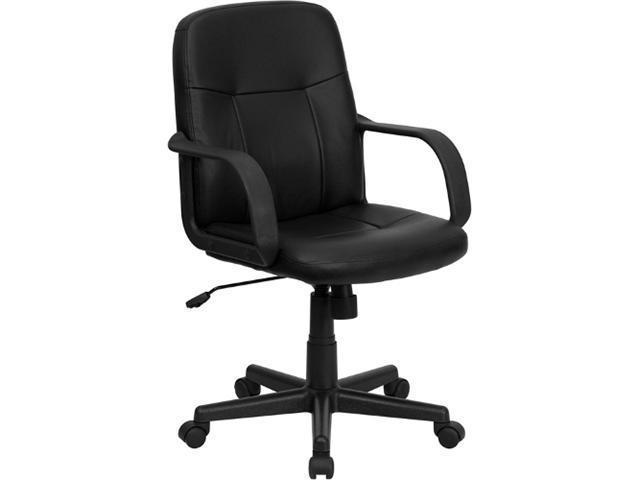 Flash Furniture Mid-Back Black Glove Vinyl Executive Office Chair [H8020-GG]