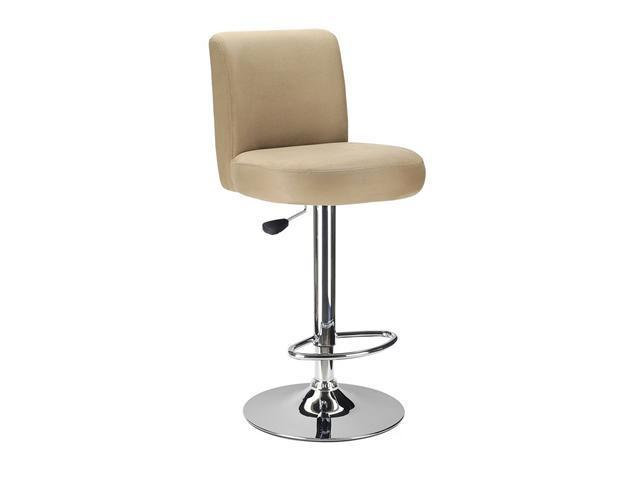 Jayden Air Lfit Stool, Micro Fiber Top, Brown By Winsome Wood