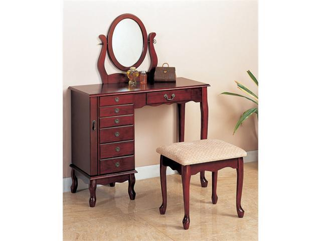 Traditional Vanity Set in Cherry Finish by Coaster Furniture