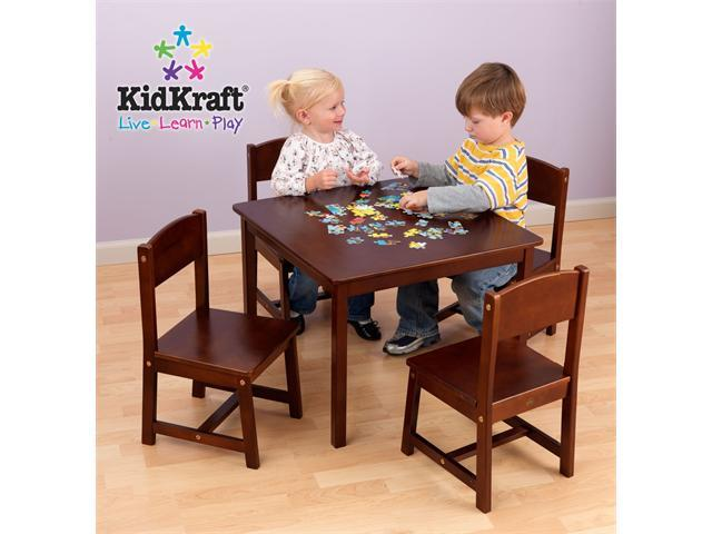 Farmhouse Table and 4 Chairs Pecan by KidKraft