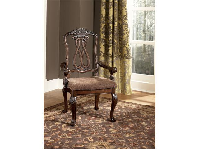 """Famous Collection""tem DescriptionDining UPH Arm Chair (2/CN)"
