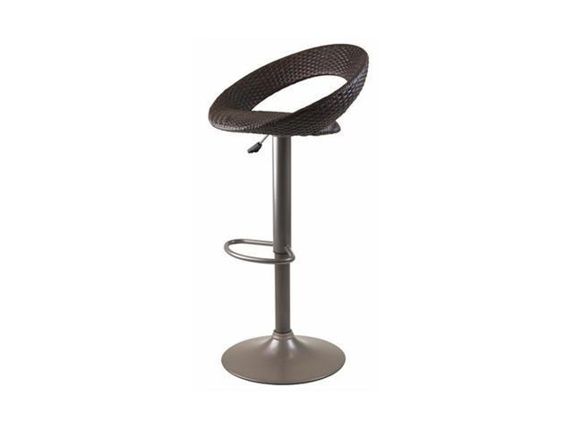 Bali Adjustable Airlift Stool with Woven Seat by Winsome Wood