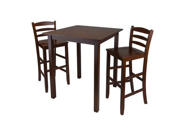 Parkland High Table with Ladder Back Stools by Winsome Wood