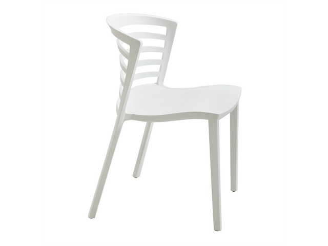 Entourage Stack Chair - White (Set of 4) by Safco