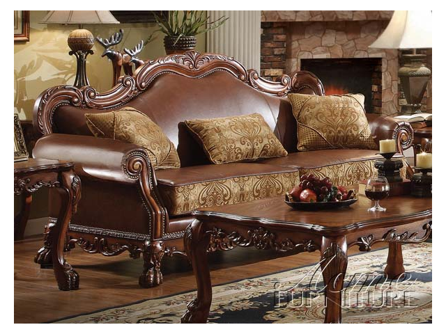 ... Sofas likewise Dining Room Table With Sofa. on wood nailhead sofa set