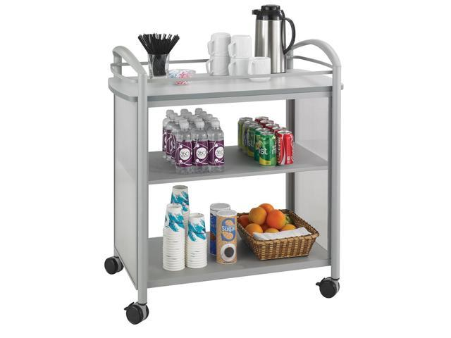 Impromptu Beverage Cart in Grey by Safco