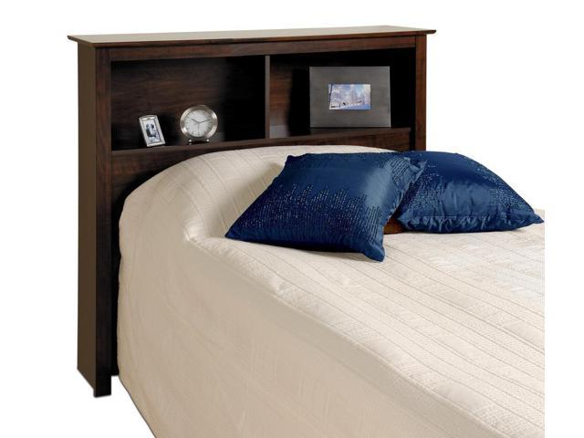 Espresso Twin Bookcase Headboard By Prepac