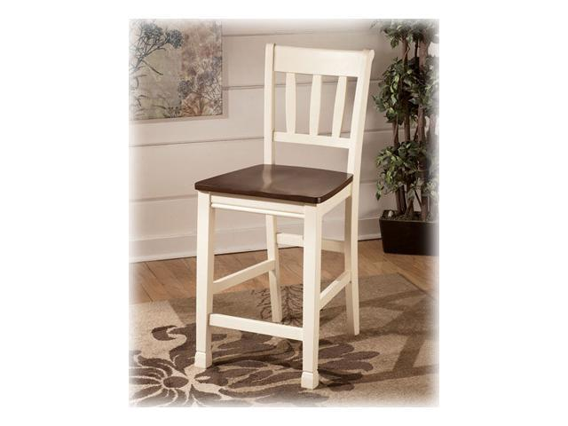 Barstool in Two-Tone Finish - Signature Design by Ashley Furniture (Set of 2)