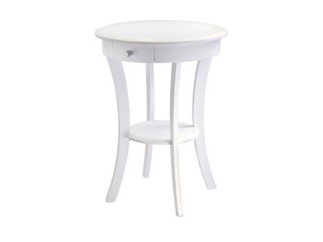 Sasha Round Accent Table In White By Winsome