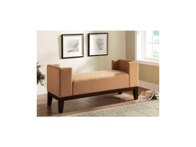 Burnt Orange U Shaped Accent Bench