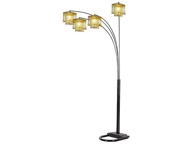 5 Arms Arch Floor Lamp  - Black By ORE