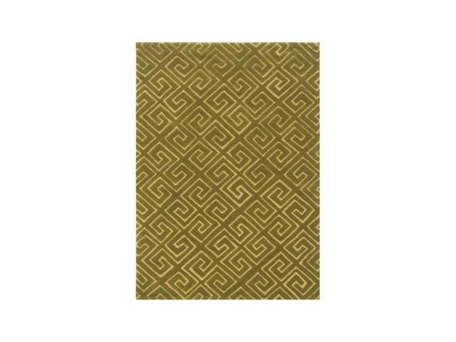 Powell Bombay Fret Green 5' x 7' Rug - 200-R0049-5