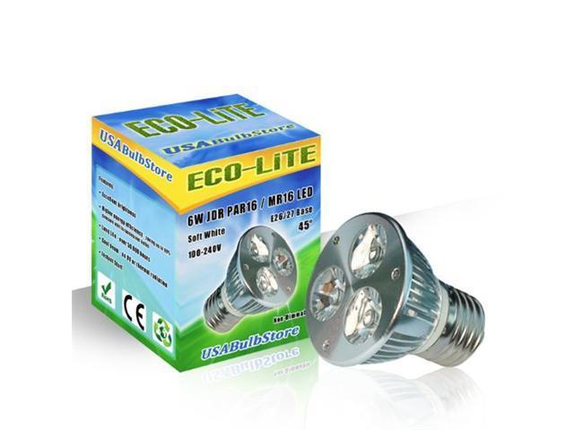 ECO-LITE 6W LED PAR16 E27 Flood 45° Soft White Curio Cabinet Light Bulb