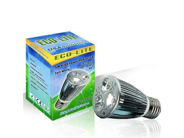 ECO-LITE DIMMABLE 9W LED PAR16 Flood 45 Soft White light bulb