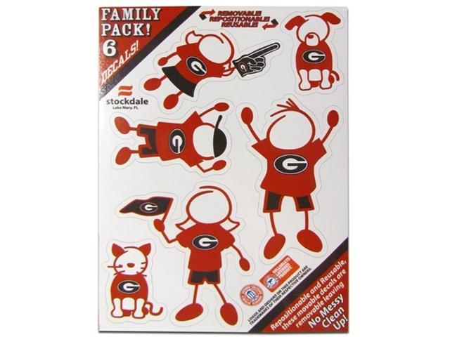 Georgia Bulldogs Family Decal Auto Pack Small 5 x 7