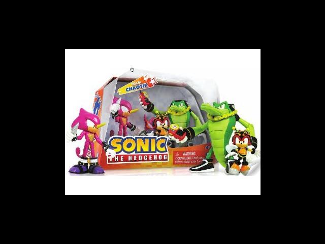 Sonic The Hedgehog Team Chaotix Figures Set (Vector, Espio, and Charmy Bee)