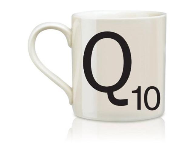 Wild and Wolf Ltd Scrabble Alphabet Mug - Q * Harsboro Coffee Mug Beverage SCR017