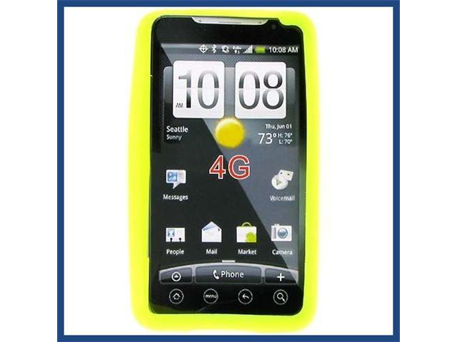 HTC Evo 4G Lime Green Skin Case