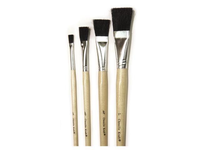 BLACK BRISTLE EASEL BRUSH 6-SET