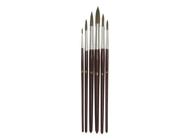 TAPERED WATER COLOR BRUSH 6-SET