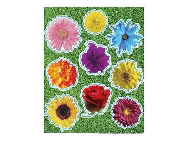 PHOTO FLOWER GLITTER STICKERS
