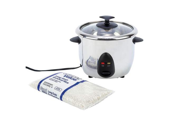 Precise Heat™ 1qt Stainless Steel Inside and Out Rice Cooker