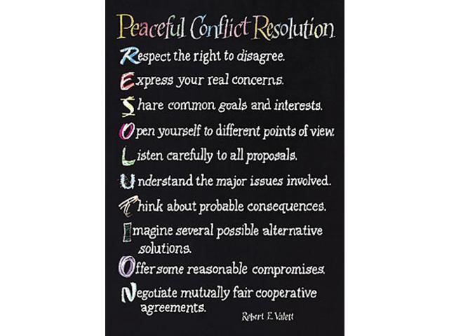 TREND ENTERPRISES INC. T-A62426 POSTER PEACEFUL CONFLICT RESOLUTION
