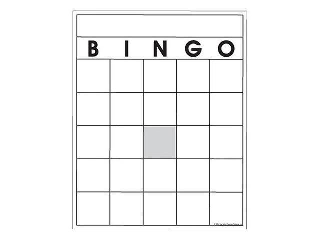 card box template generator - blank bingo cards