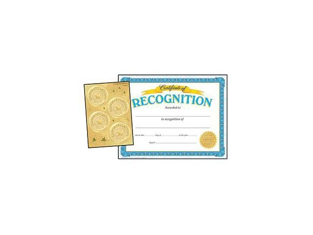 RECOGNITION CERTIFICATES &